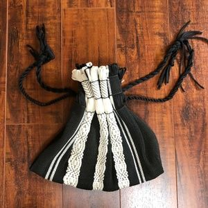 Vintage BoHo Hippie Black & White Small Bagette
